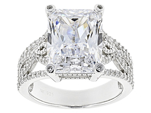 Photo of Pre-Owned Charles Winston For Bella Luce ® 16.14ctw Rectangular Octagonal & Round Rhodium Plated S - Size 5