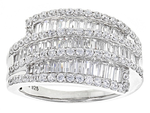 Photo of Pre-Owned Bella Luce ® 3.25ctw Diamond Simulant Rhodium Over Sterling Silver Ring - Size 6