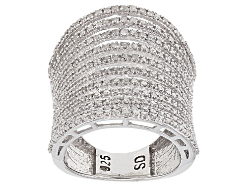 Photo of Pre-Owned 1.14ctw Round White Diamond Rhodium Over Sterling Silver Ring - Size 6