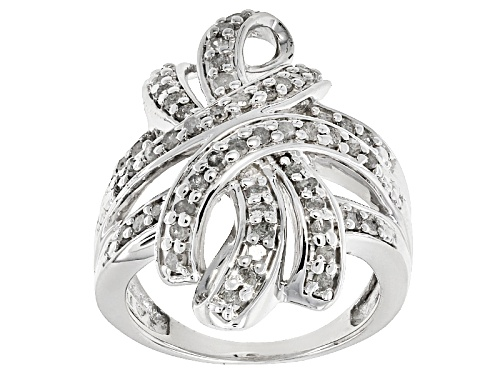Photo of Pre-Owned Emulous™ 1.00ctw Round Diamond Rhodium Over Brass Ring - Size 7