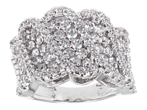 Photo of Pre-Owned Bella Luce ® 2.37ctw Round Rhodium Over Sterling Silver Ring - Size 8