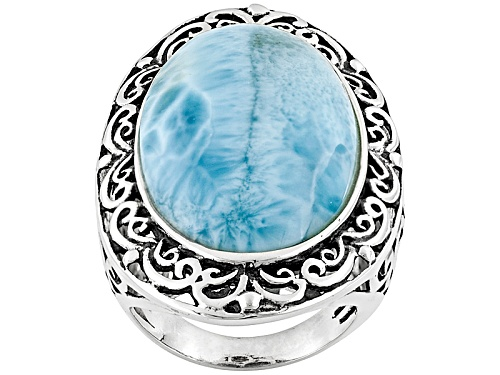 Photo of Pre-Owned Larimar Sterling Silver Ring - Size 5
