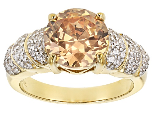 Photo of Pre-Owned Bella Luce ® 2.57ctw Champagne & White Diamond Simulant Eterno ™ Yellow Ring (2.26ctw Dew) - Size 12