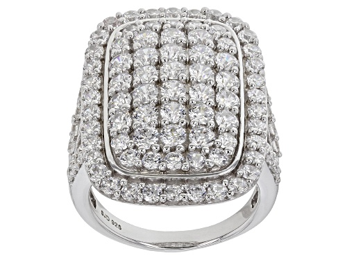 Photo of Pre-Owned Bella Luce ® 7.14ctw Rhodium Over Sterling Silver Ring (3.40ctw DEW) - Size 7