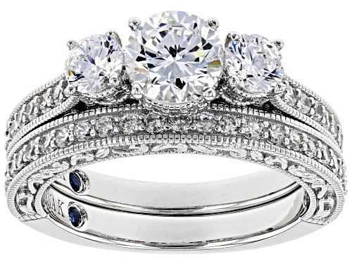 Photo of Pre-Owned Vanna K ™ For Bella Luce ® 3.48CTW Diamond Simulant Platineve ™ Ring With Band - Size 5