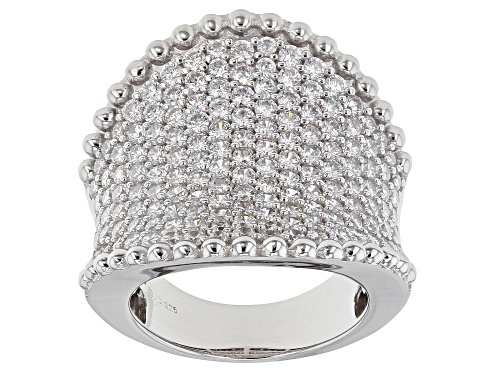 Photo of Pre-Owned Bella Luce ® 5.98ctw Rhodium Over Sterling Silver Ring (3.53ctw DEW) - Size 7