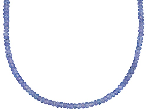 Photo of Pre-Owned Artisan Gem Collection Of India, Faceted Tanzanite Bead Sterling Silver Necklace - Size 18
