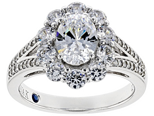 Photo of Pre-Owned Vanna K ™ For Bella Luce ® 4.28CTW Diamond Simulant Platineve ™ Ring - Size 8