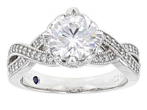 Photo of Pre-Owned Vanna K ™ For Bella Luce ® 3.43ctw White Diamond Simulant Platineve ™ Ring (2.33ctw Dew) - Size 10