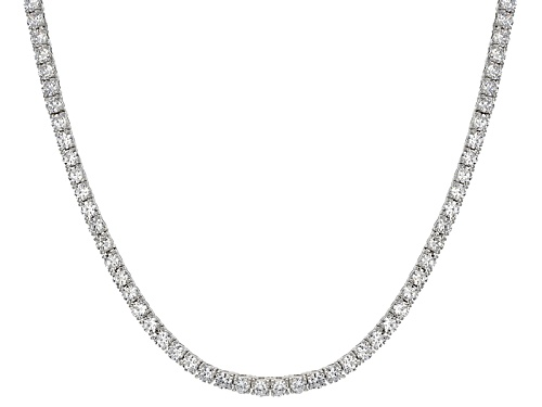 Photo of Pre-Owned Bella Luce ® 23.76ctw Round Rhodium Over Sterling Silver Necklace - Size 18
