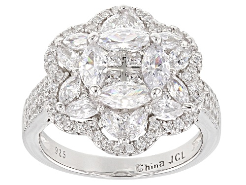 Photo of Pre-Owned Bella Luce ® 7.20CTW White Diamond Simulant Rhodium Over Sterling Silver Ring - Size 7