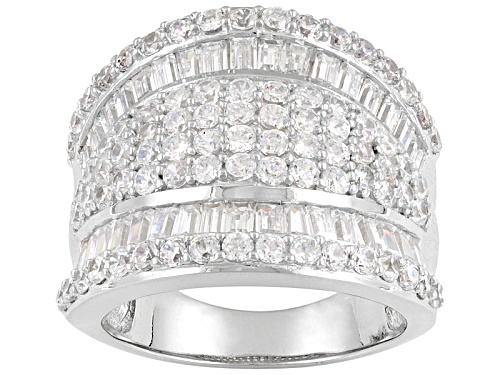 Photo of Pre-Owned Bella Luce® 5.25ctw Rhodium Over Sterling Silver Ring - Size 8