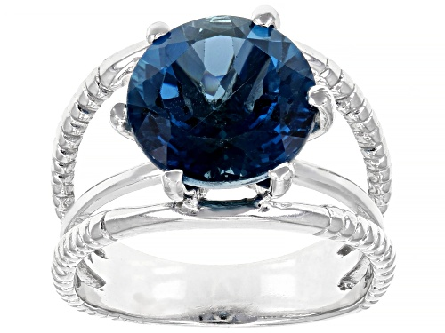 Photo of Pre-Owned 5ctw Round London Blue Topaz Rhodium Over Sterling Silver Solitaire Ring - Size 7