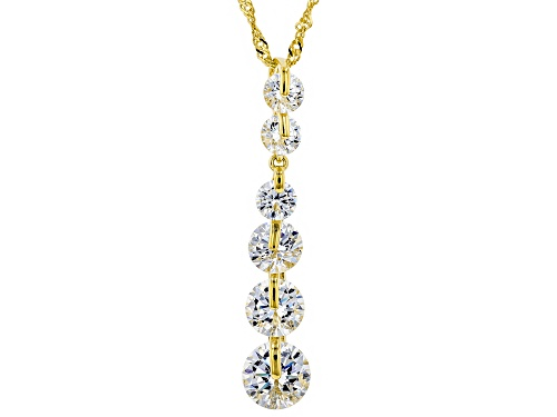 Photo of Pre-Owned Bella Luce ® 6.35ctw White Diamond Simulant Eterno™ Yellow Pendant With Chain (3.83ctw DEW