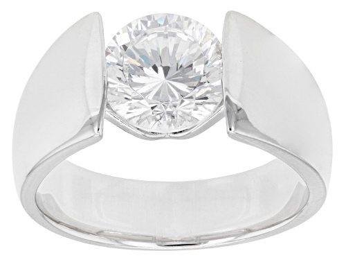 Photo of Pre-Owned Bella Luce ® Dillenium Cut 3.15ctw Rhodium Over Sterling Silver Ring (2.04ctw Dew) - Size 4