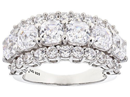 Photo of Pre-Owned Bella Luce Luxe ™ 9.67ctw Imperial Mosaic & Round Zirconia From Swarovski ® Rhodium Over S - Size 7