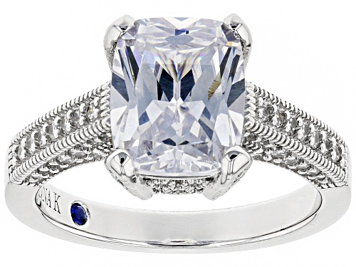 Photo of Pre-Owned Vanna K ™ For Bella Luce ® 5.77CTW Diamond Simulant Platineve ™ Over Silver Ring - Size 5