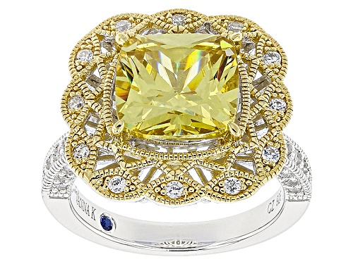 Photo of Pre-Owned Vanna K™For Bella Luce®Canary And Diamond Simulants Eterno™ Yellow And Platineve™ Ring - Size 6