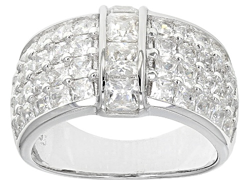 Photo of Pre-Owned Bella Luce ® 5.20ctw Rhodium Over Sterling Silver Ring (3.12ctw Dew) - Size 5