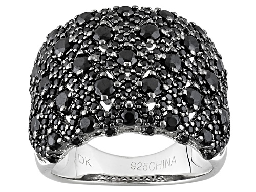 Photo of Pre-Owned 2.48ctw Round Black Spinel Sterling Silver Ring - Size 5