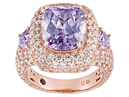 Photo of Pre-Owned Vanna K ™ For Bella Luce ® 14.78CTW Lavender & White Diamond Simulants Eterno ™ Rose Ring - Size 11