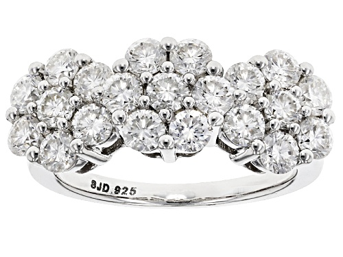 Photo of Pre-Owned Moissanite Fire® 2.10ctw Diamond Equivalent Weight Round Platineve™ Ring - Size 6