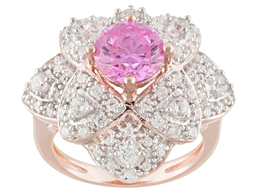 Photo of Pre-Owned Bella Luce ® 3.41ctw Round Pink & White Diamond Simulant Eterno ™ Rose Ring - Size 5