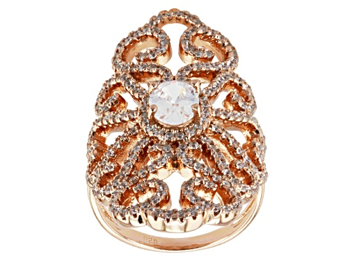 Photo of Pre-Owned Bella Luce ® 3.42ctw Diamond Simulant Oval & Round Eterno ™ Rose Ring (1.82ctw Dew) - Size 6