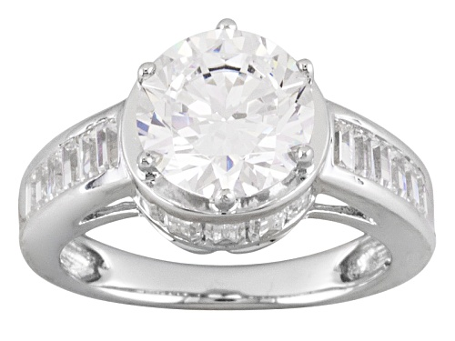 Photo of Pre-Owned Bella Luce ® 5.04ctw Round & Baguette Rhodium Plated Sterling Silver Ring - Size 6
