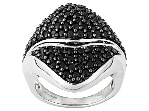 Photo of Pre-Owned 2.83ctw Round Black Spinel Sterling Silver Ring - Size 5