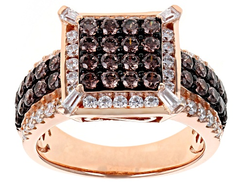 Photo of Pre-Owned Bella Luce ® 3.14CTW Mocha & White Diamond Simulants Eterno ™ Rose Ring (1.81CTW DEW) - Size 9