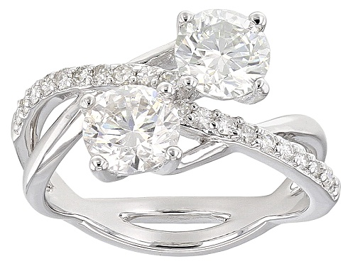 Photo of Pre-Owned Moissanite Fire® 1.80ctw Diamond Equivalent Weight Round Platineve™ Ring - Size 11
