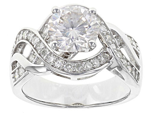 Photo of Pre-Owned Moissanite Fire® 2.62ctw Diamond Equivalent Weight Round Platineve™ Ring - Size 7
