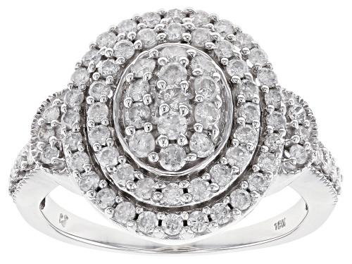 Photo of Pre-Owned 1.00ctw Round White Diamond 10k White Gold Ring - Size 7.5