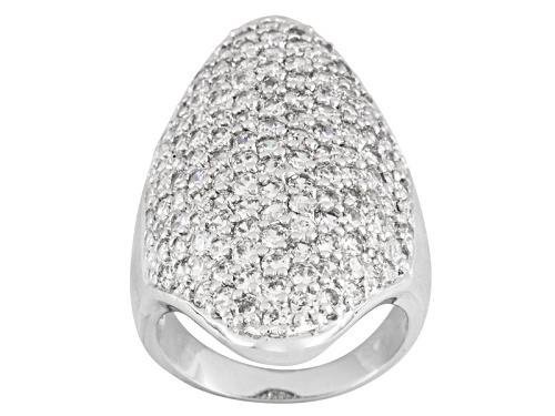 Photo of Pre-Owned Bella Luce ® 5.07ctw Round Rhodium Over Sterling Silver Ring - Size 6
