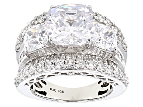 Photo of Pre-Owned Bella Luce ® 12.97CTW White Diamond Simulant Rhodium Over Sterling Silver Ring (7.92CTW DE - Size 5