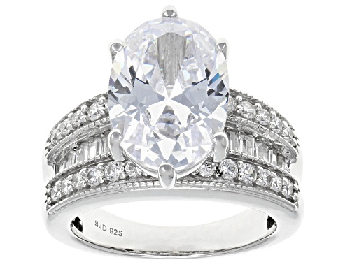 Photo of Pre-Owned Bella Luce ® 11.24CTW White Diamond Simulant Rhodium Over Sterling Silver Ring (7.23CTW DE - Size 6