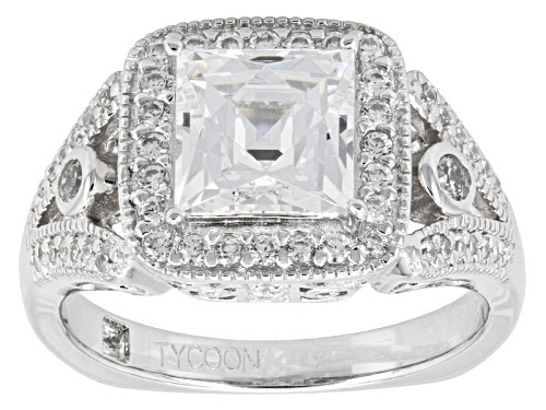 Photo of Pre-Owned Tycoon For Bella Luce ® 3.74ctw Square And Round Platineve® Ring (2.46ctw Dew) - Size 9