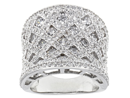 Photo of Pre-Owned Bella Luce ® 4.46ctw Round Rhodium Over Sterling Silver Ring - Size 9