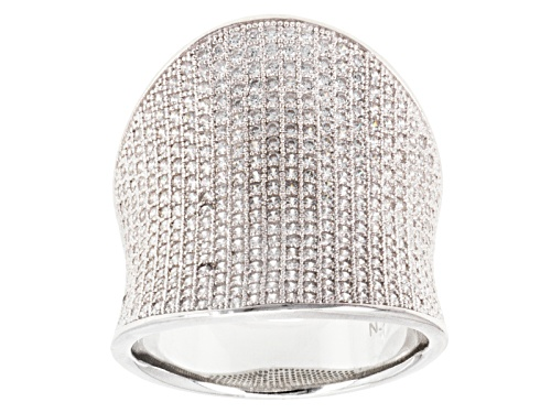 Photo of Pre-Owned Bella Luce ® 3.00ctw Round Rhodium Over Sterling Silver Ring - Size 6