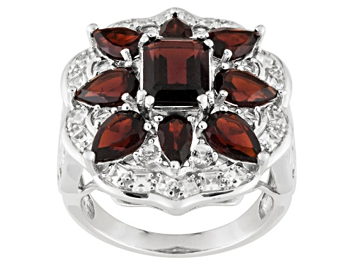 Photo of Pre-Owned 4.50ctw Vermelho Garnet ™ With .85ctw White Topaz Sterling Silver Ring - Size 6