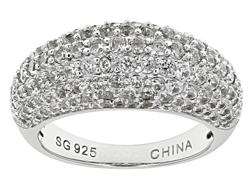Photo of Pre-Owned 3.02ctw Round White Zircon Sterling Silver Dome Ring - Size 10
