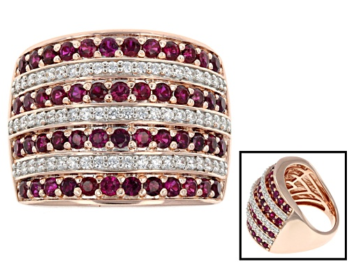 Photo of Pre-Owned Bella Luce ® 3.20ctw Ruby Simulant & White Diamond Simulant Round Eterno ™ Rose Ring - Size 8