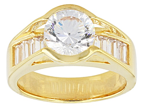 Photo of Pre-Owned Bella Luce ® Dillenium Cut 4.98ctw Eterno ™ Yellow Ring (3.44ctw Dew) - Size 7