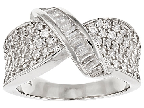 Photo of Pre-Owned Bella Luce ® 1.72ctw Rhodium Over Sterling Silver Ring (.88ctw Dew) - Size 5
