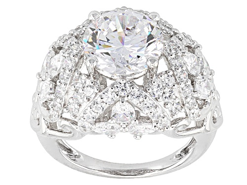 Photo of Pre-Owned Bella Luce ® 11.33ctw Rhodium Over Sterling Silver Ring (7.49ctw Dew) - Size 7