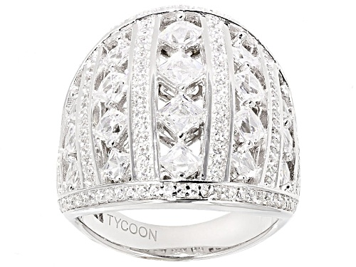 Photo of Pre-Owned Tycoon For Bella Luce ® 4.65ctw Square Cut & Round Platineve® Ring (3.33ctw Dew) - Size 5