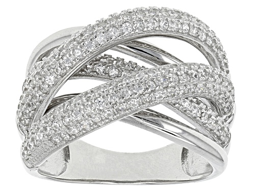Photo of Pre-Owned Bella Luce ® 1.85ctw Rhodium Over Sterling Silver Ring (.92ctw Dew) - Size 5