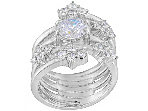 Photo of Pre-Owned Jose Hess ™ For Bella Luce ® 2.95ctw Rhodium Over Sterling Silver Ring - Size 6