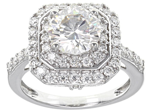 Photo of Pre-Owned MOISSANITE FIRE(R) 2.90CTW DEW ROUND PLATINEVE(TM) RING - Size 7